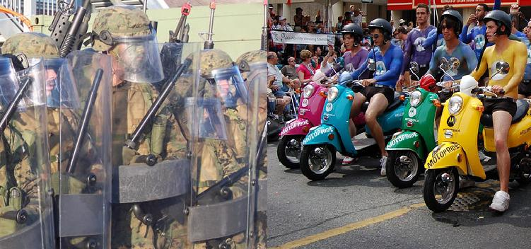 Military execution at gay pride demonstration