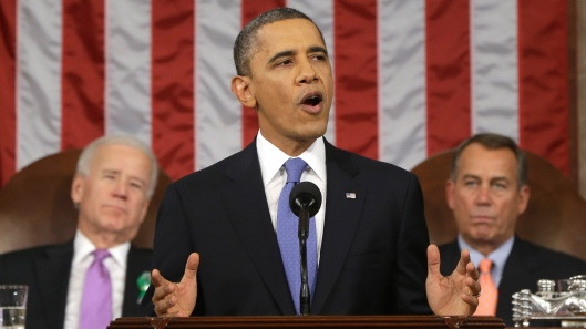 President Obama giving the 2013 State of the Union address